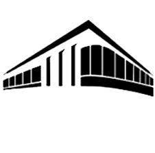 A plain building black and white building graphic.